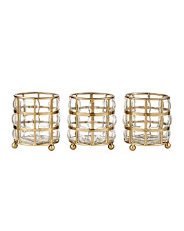 Martina Set of 3 Tealight Holders