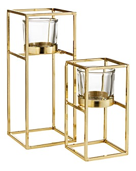 Hestia Set of 2 Gold Tealight Holder