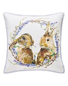 Lavender Rabbits Cushion