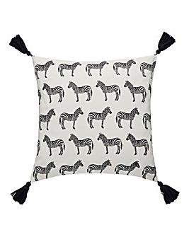 Zebra Print Cushion