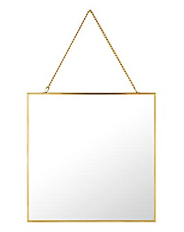 Hanging Square Gold Mirror
