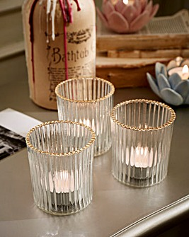 Joe Browns Set of 3 Tealight Holders