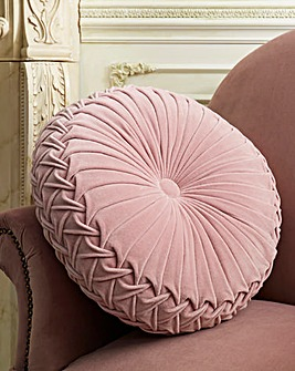 Joe Browns Velvet Circular Cushion