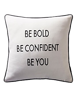Karen Millen Slogan Cushion
