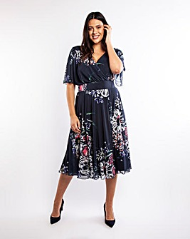 Scarlett & Jo Angel Sleeve Midi Dress