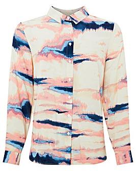 Monsoon Tilly Tie Dye Print Shirt
