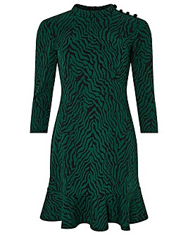 Monsoon Tiggy Tiger Jacquard Dress