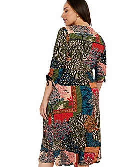 Monsoon Payton Printed Midi Dress