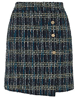 Monsoon Talia Check Mini Skirt