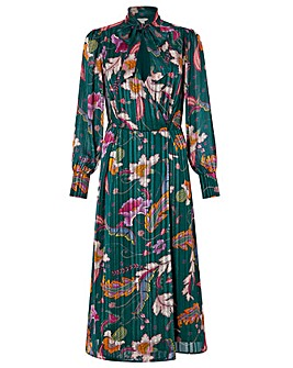 Monsoon Rosie Print Pussybow Midi Dress