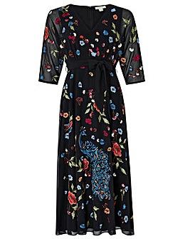 Monsoon Petunia Peacock Midi Dress