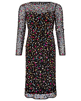 Monsoon Megan Pilattes Sequin Midi Dress