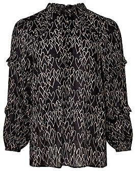 Monsoon Harmony Heart Print Blouse