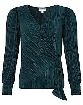 Monsoon Phillipa Plisse Long Sleeve Top