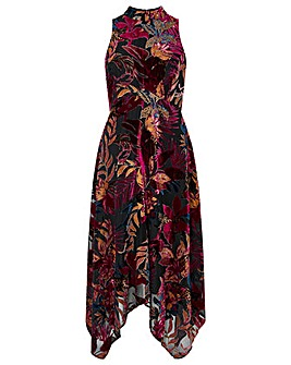 Monsoon Lyra Devore Hanky Hem Dress