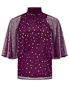 Monsoon Kimberley Cape Sequin Top