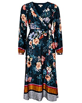 Monsoon Shanie Print Midi Dress