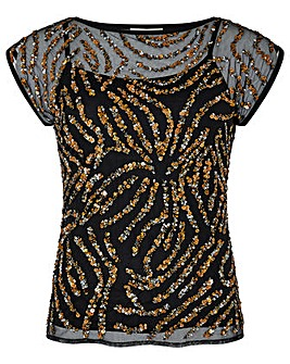Monsoon Malika Animal Embellished Top
