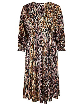 Monsoon Agnes Animal Print Midi Dress