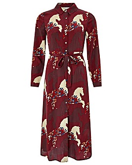 Monsoon Holly Horse Print Shirt Dress