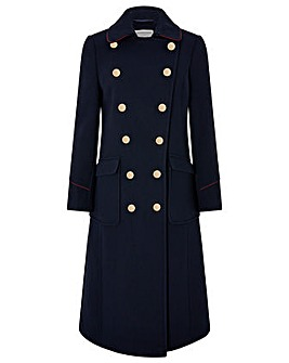 Monsoon Anna Maxi Military Coat