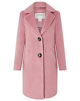 Monsoon Blair Brushed Wool Coat