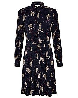 Monsoon Leonard Leopard Short Dress