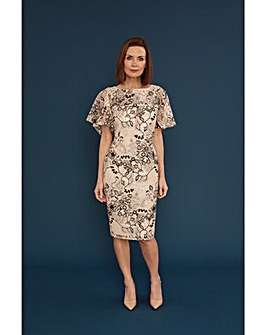 Gina Bacconi Lyska Embroidered Dress