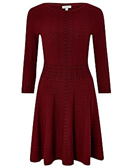 Monsoon Freja Fit & Flare Knitted Dress