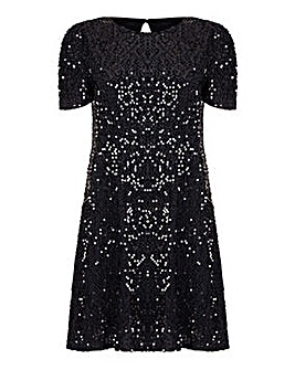 Mela London Curve Sequin Shift Dress