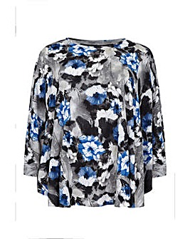 Mela London Curve Floral Printed Top