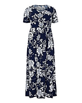 Mela London Curve Floral Printed V Neck