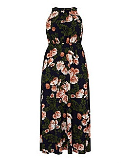 Mela London Curve Roses Print High Neck