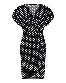 Mela London Curve Polka Dot Wrap Front D
