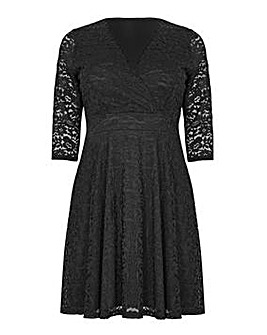 Mela London Curve Delicate Lace Long Sle