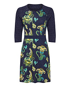 Yumi Curves Bright Paisley Bodycon Dress
