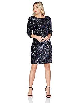 Roman Velvet Sequin Shift Dress