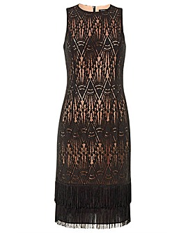 Roman Lace Tassel Sleeveless Flapper ...