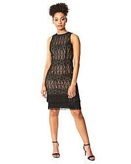 Roman Lace Tassel Sleeveless Shift Dress