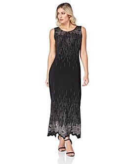 Roman Glitter Detail Floral Maxi Dress