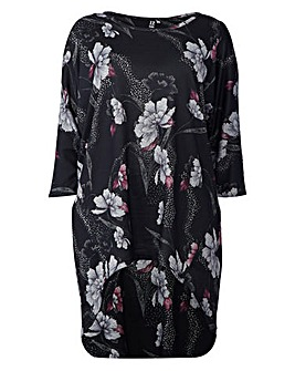 Izabel London Curve Flower Print Jumper