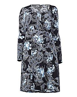 Izabel London Curve Paisley Print Dress