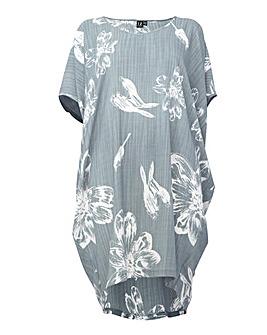 Izabel London Curve Printed V-Neck Dress