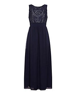 Mela London Curve Sequin Detailed Maxi D