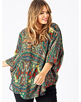 Koko Paisley Cape Top