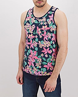 Hibiscus Floral Printed Vest Long