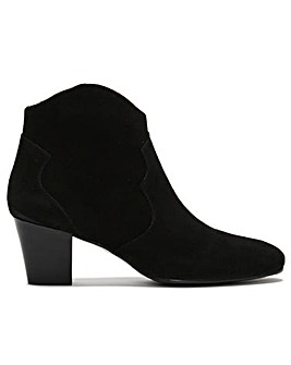 Daniel Barara Suede Western Ankle Boots