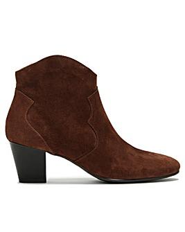 Daniel Barara Suede Western Ankle Boots