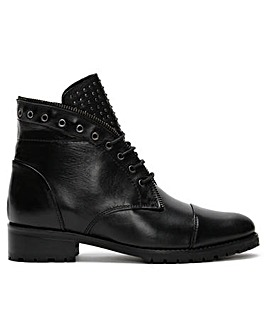 Daniel Sast Zip Lace Up Ankle Boots