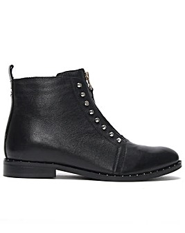 Daniel Scribble Studded Ankle Boots